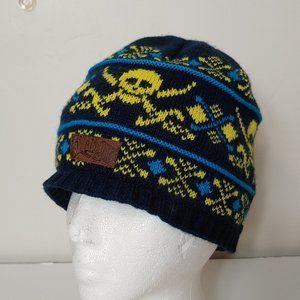 Billabong Skeleton Beanie Knit Hat Fleece